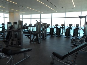 The state of the art gym at Secrets The Vine