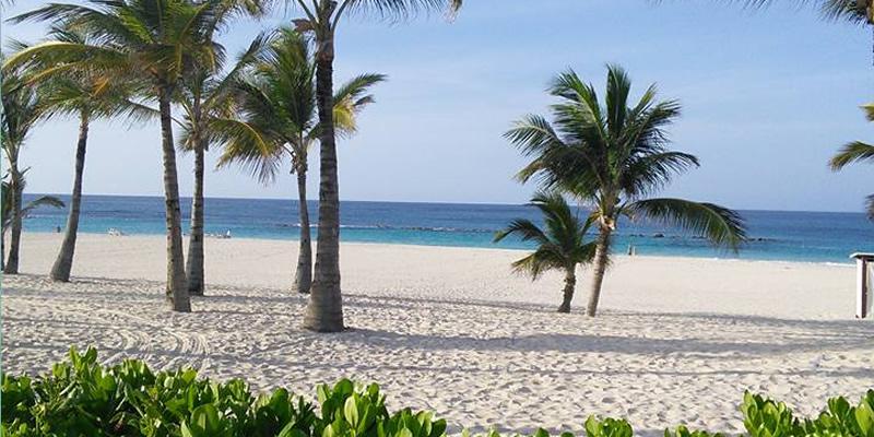 Beautiful beach at Hard Rock Hotel