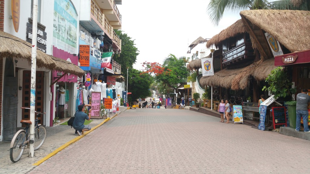 Touring the streets of Playa del Carmen