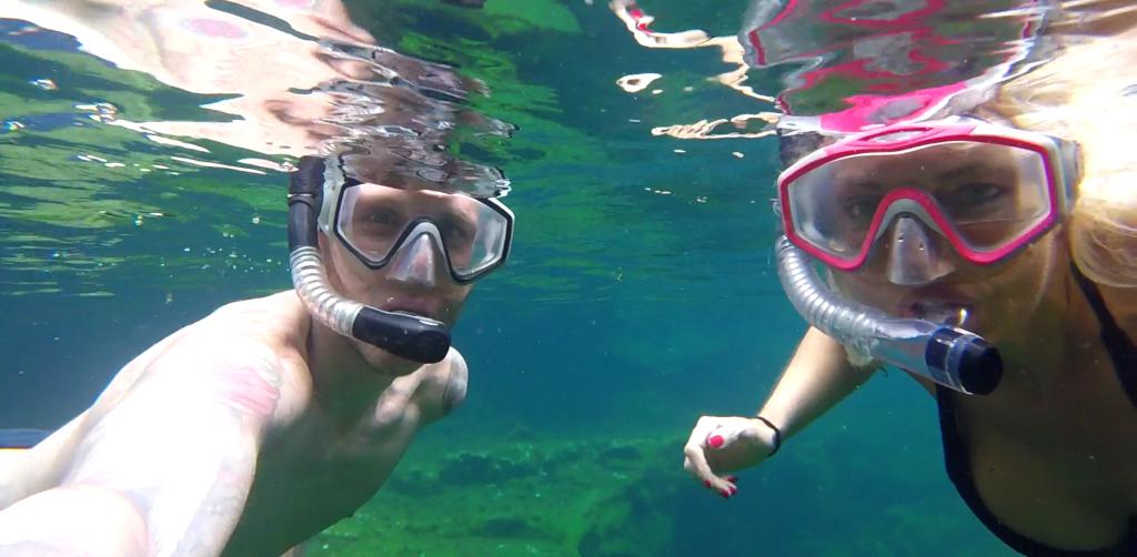 Underwater Cenote Selfie