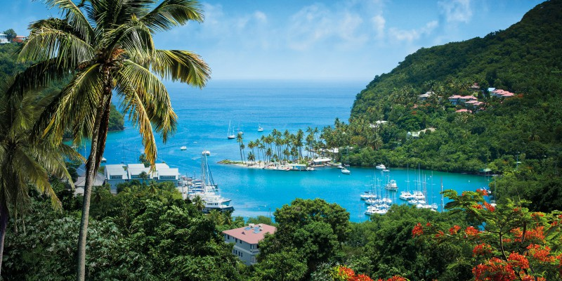 St. Lucia with Caribbean Warehouse