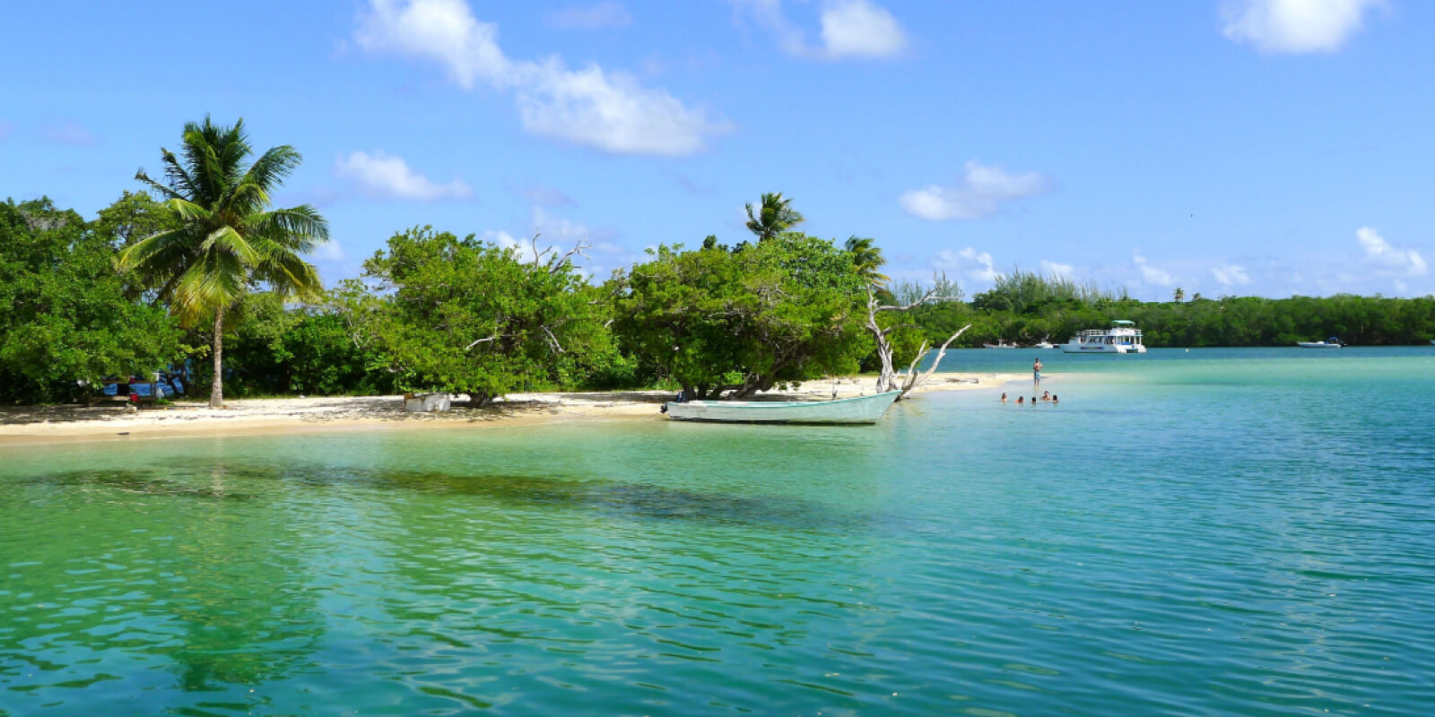 Tobago beach with Caribbean Warehouse