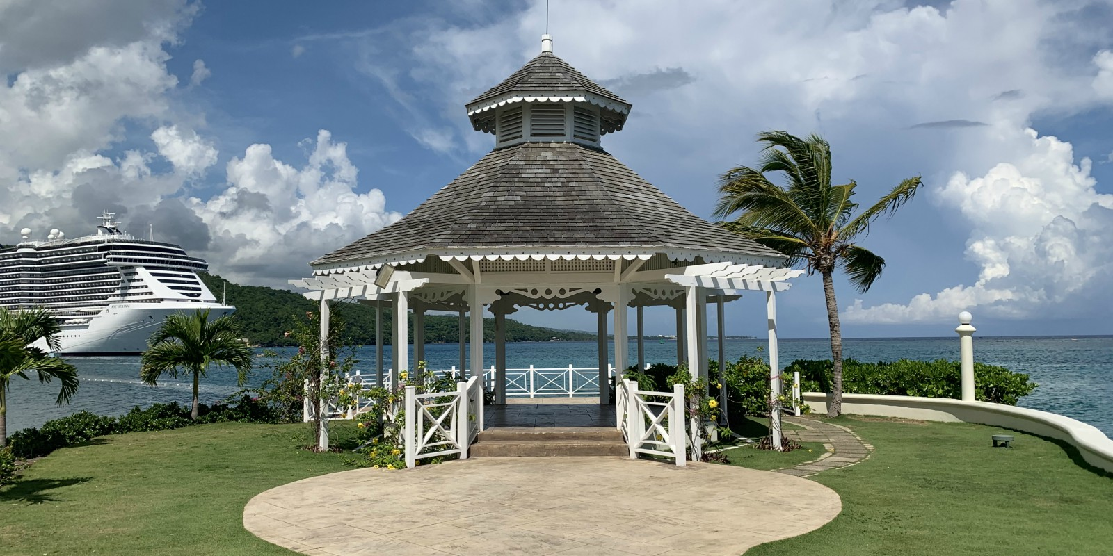 moon palace south beach wedding gazebo