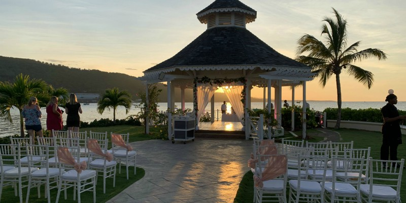 Moon Palace Jamaica wedding gazebo