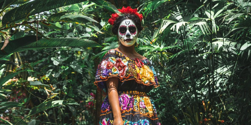 day of the dead costume, mexico