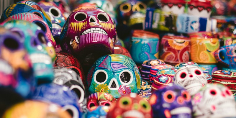 day of the dead skulls, mexico