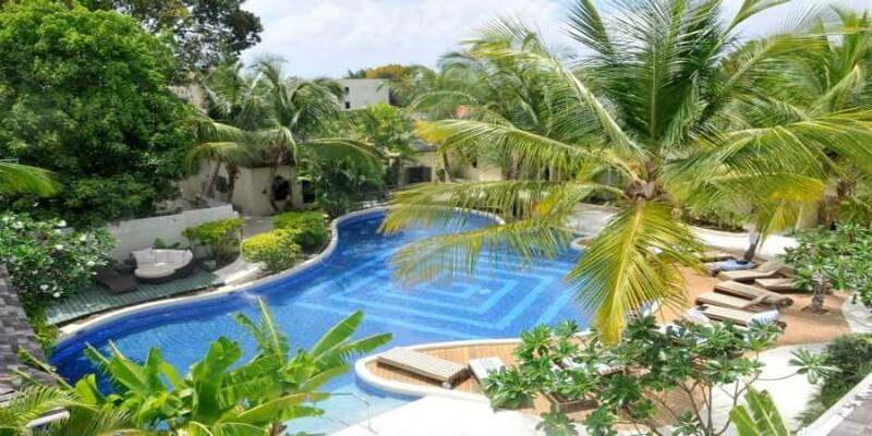 One of the main pools at Waves Hotel and Spa Barbados