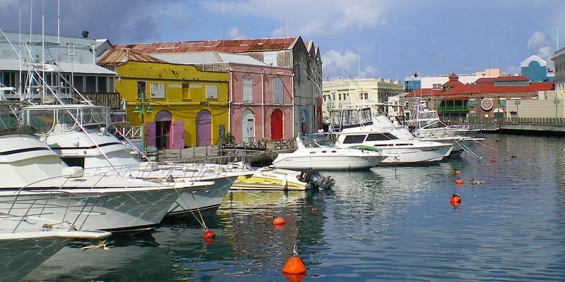 Bridgetown town harbour