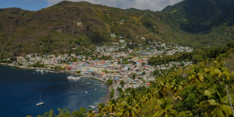 Castries sits beautifully on the Caribbean coast