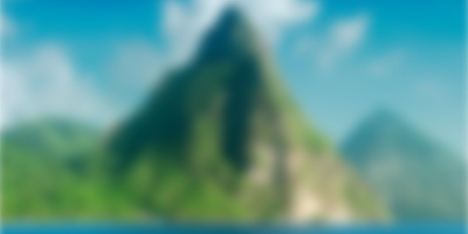 Can you name this blurry Caribbean landmark
