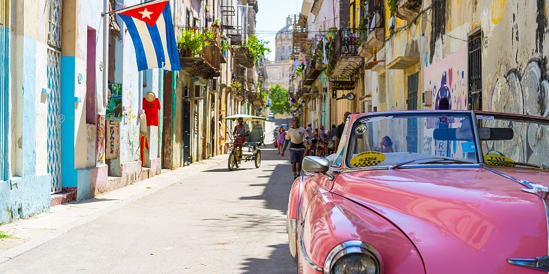 The colourful streets of Cuba