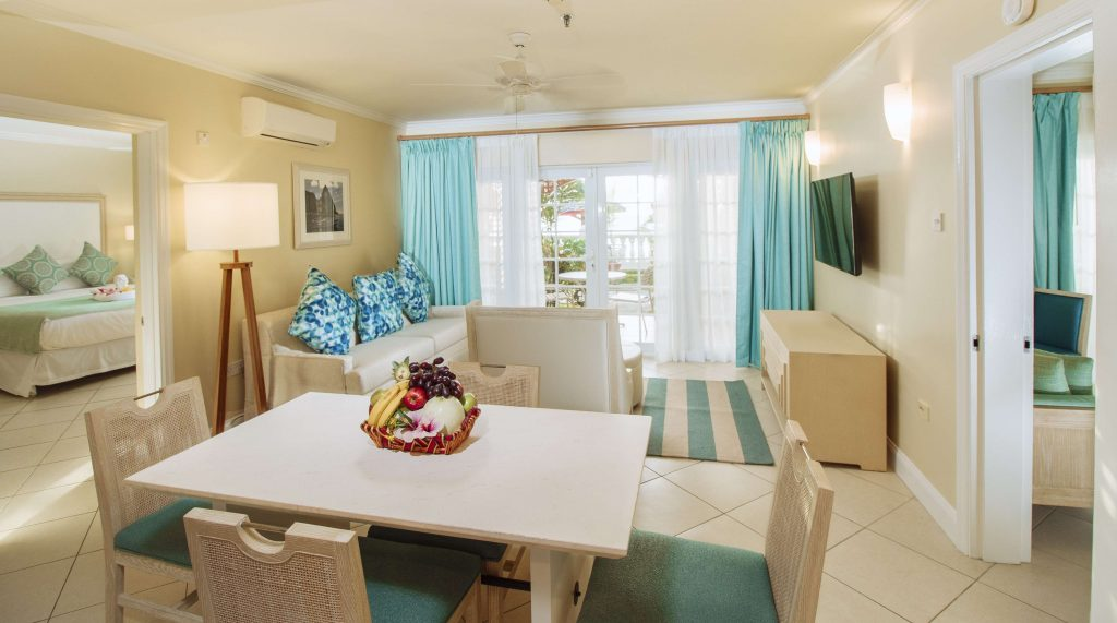 interior shot of a spacious living area at Bay Gardens Beach Resort & Spa, St Lucia