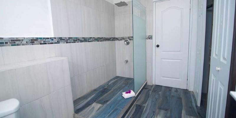 Shot of the modern bathroom suite at Tropikist Beach Hotel & Resort