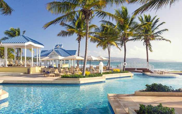 One of the three resort pools at Magdalena Grand Beach & Golf Resort