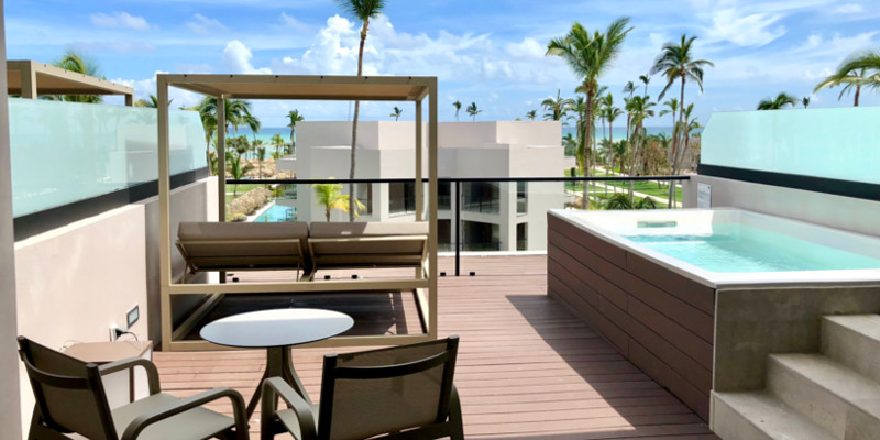 The incredible view from a Terrace Suite with Plunge Pool at Excellence El Carmen