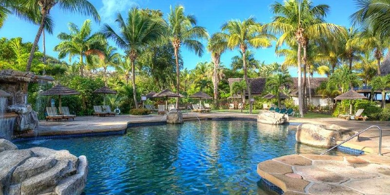 Main swimming pool area of the resort