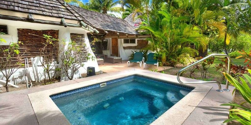 A private swimming pool at Galley Bay Antigua