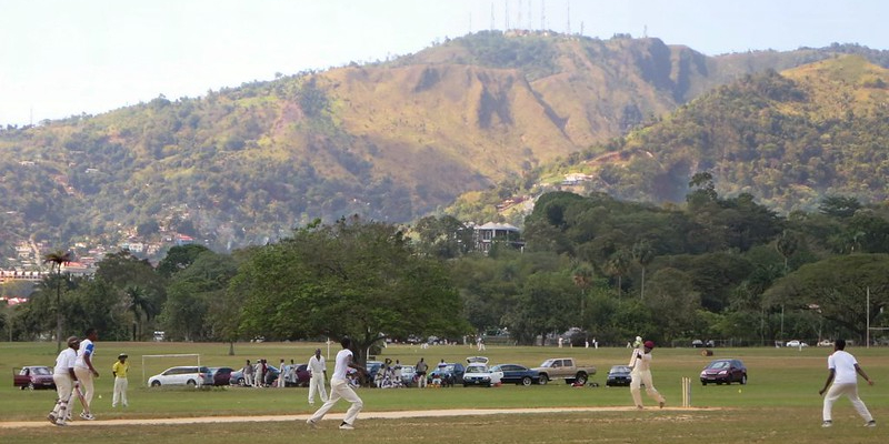 Queens Park Savannah, a Game of Cricket. Picture Credit: David Stanley