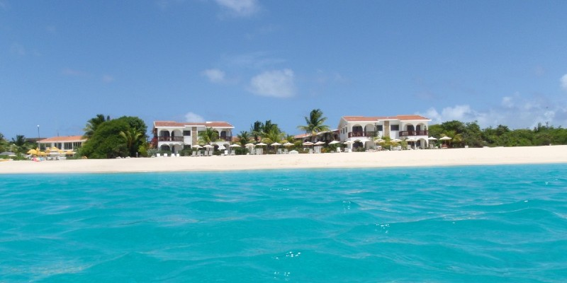 Shot from the water on the coastline of Anguilla