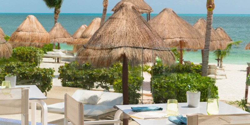 Outdoor seating at Isla Grill Trattoria in Beloved Playa Mujeres by The Excellence Collection