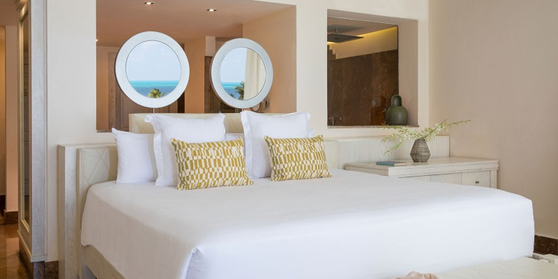 Bedroom in a Junior Suite at Beloved Playa Mujeres by The Excellence Collection