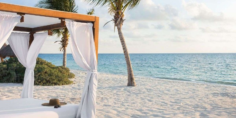 Powder white sand beach at Excellence Playa Mujeres