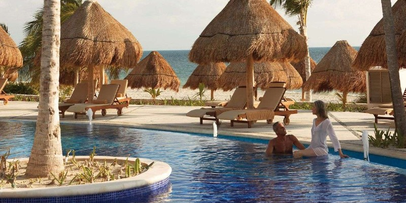 Poolside at the Main Pool in Excellence Playa Mujeres