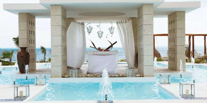 sea view pool at Excellence Playa Mujeres