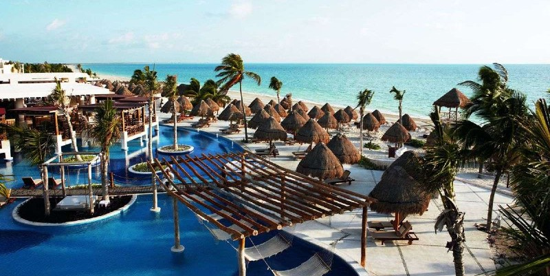 Aerial shot of Excellence Playa Mujeres