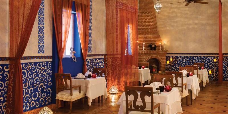 Interior shot of Basmati Restaurant at Excellence Riviera Cancún