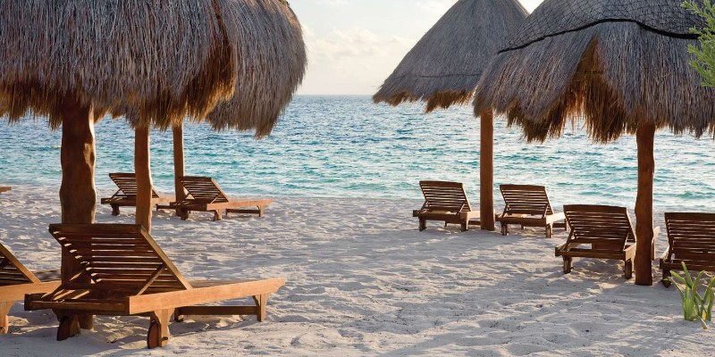 The beachfront location that Excellence Riviera Cancún sits on