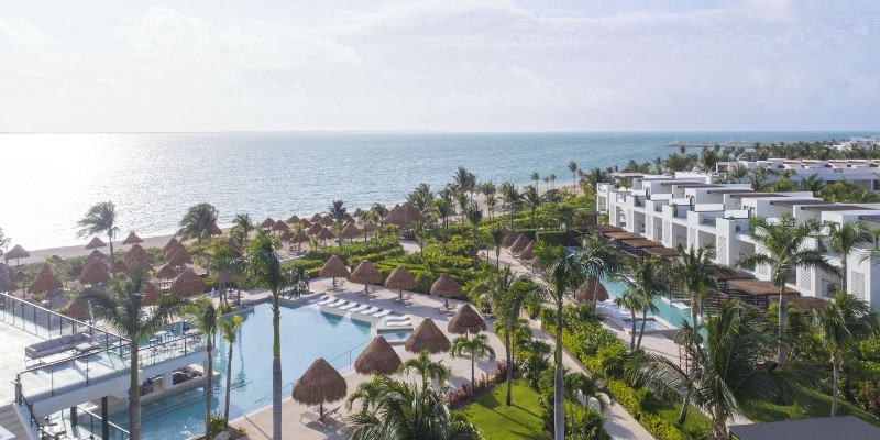 Aerial shot of Finest Playa Mujeres