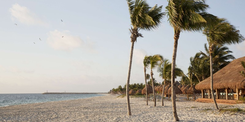 The beach to the front of Finest Playa Mujeres