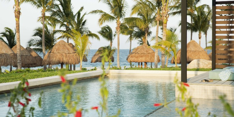 Relaxing pool area at Finest Playa Mujeres