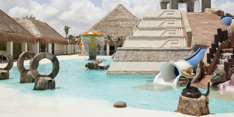 poolside at the kid's pool in Finest Playa Mujeres