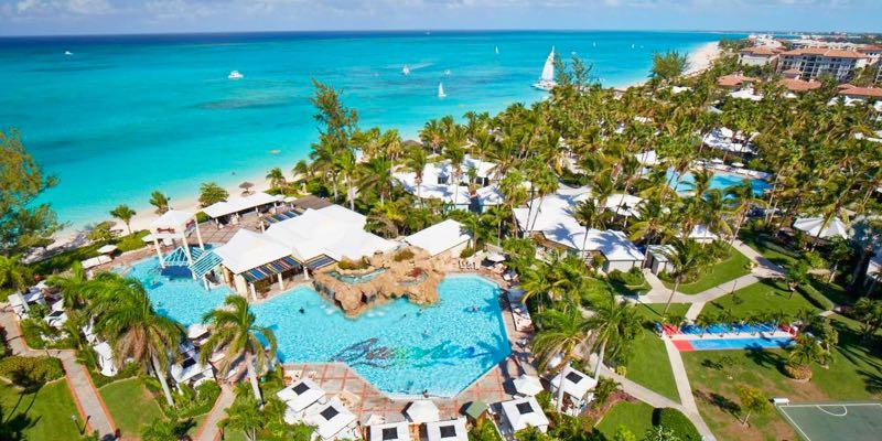 Aerial shot of Beaches Turks & Caicos Resort Villages & Spa
