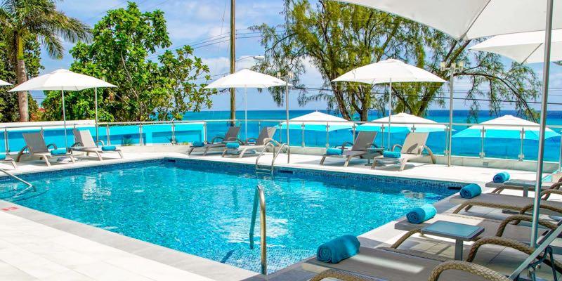 Poolside shot at Abidah by Accra resort in Barbados