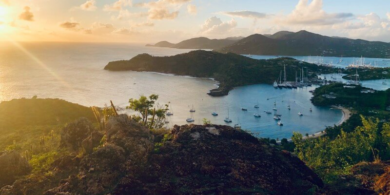 The view of Antigua from on top of a hill