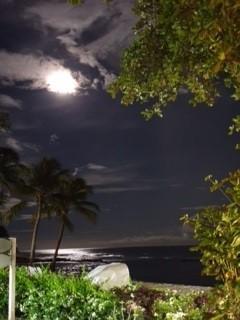 moon shining over the sea