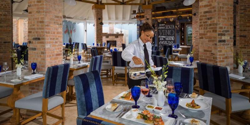 Portofinos restaurant in Sandals Barbados