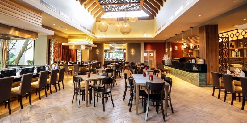 Inside the teppanyaki restaurant at Vista Sol Punta Cana Resort & Spa