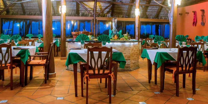 Inside the Mexican restaurant at Vista Sol Punta Cana Resort & Spa