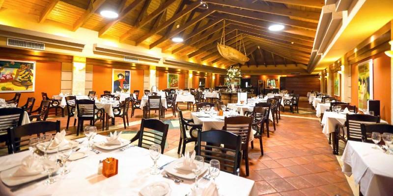 Interior of the gourmet restaurant at Vista Sol Punta Cana Resort & Spa