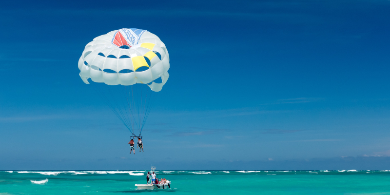 Take to the skies and go parasailing
