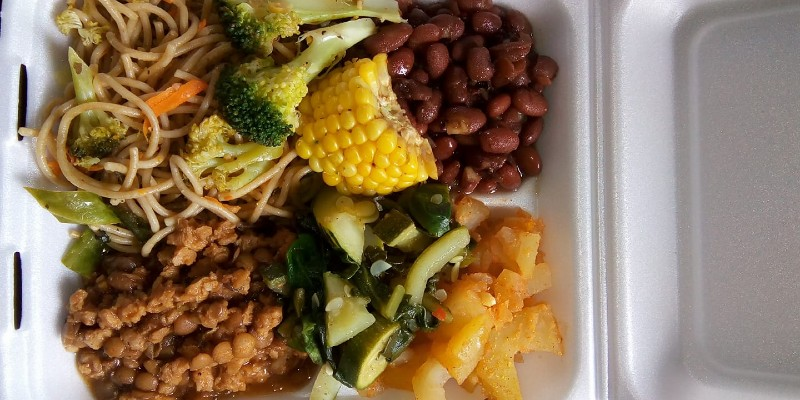 Ital food at Level Vibes Ital Shop