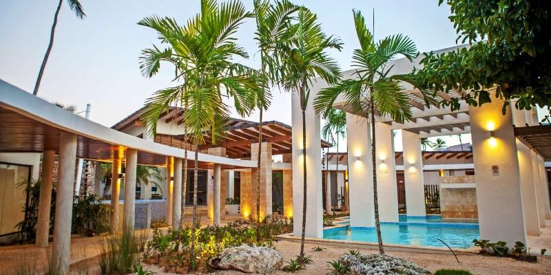 Exterior shot of the spa at Vista Sol Punta Cana Resort & Spa