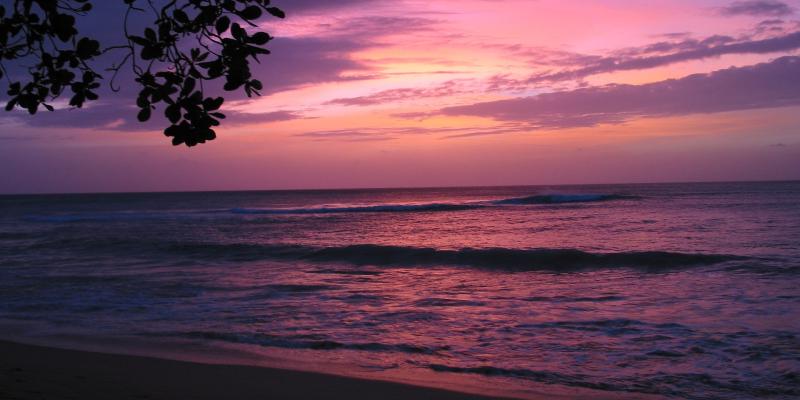 A stunning Barbados sunset