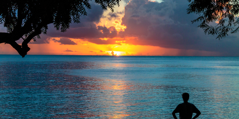 A sunset in Barbados