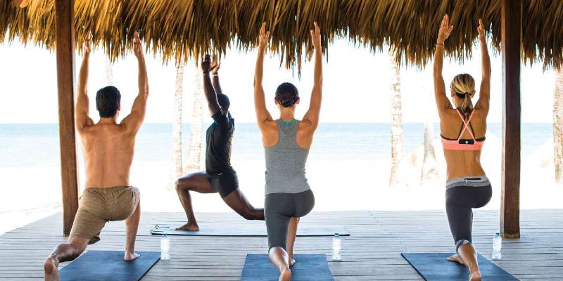 Yoga at the beachfront